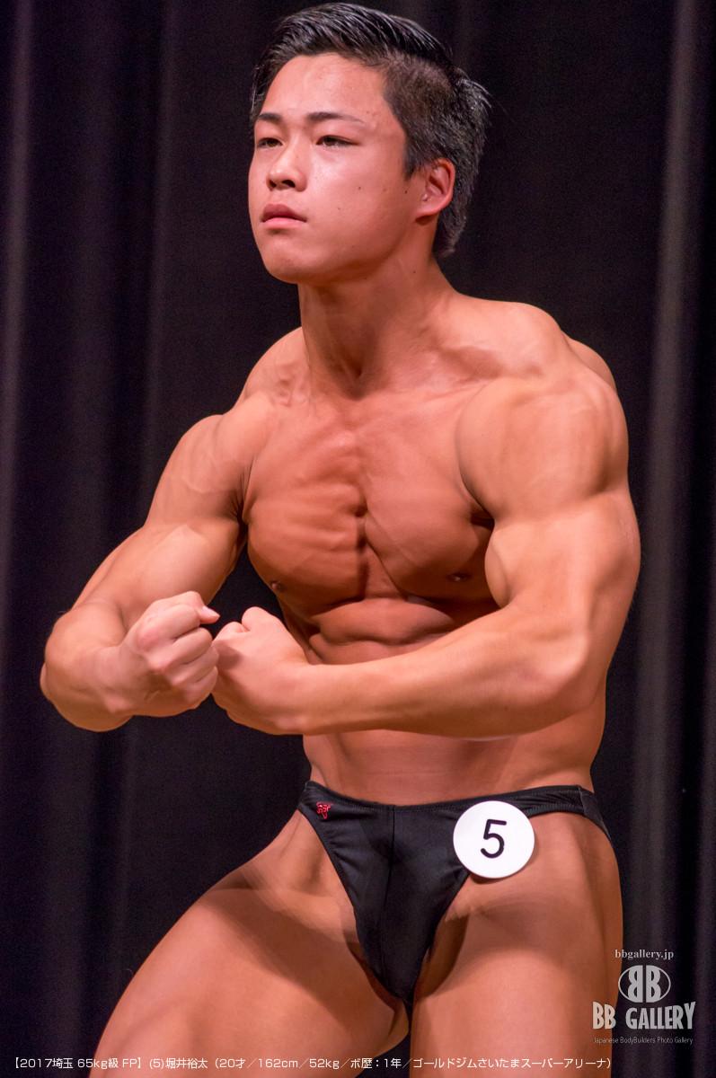 【2017埼玉 65kg級 FP】(5)堀井裕太(20才/162cm/52kg/ボ歴:1年/ゴールドジムさいたまスーパーアリーナ)