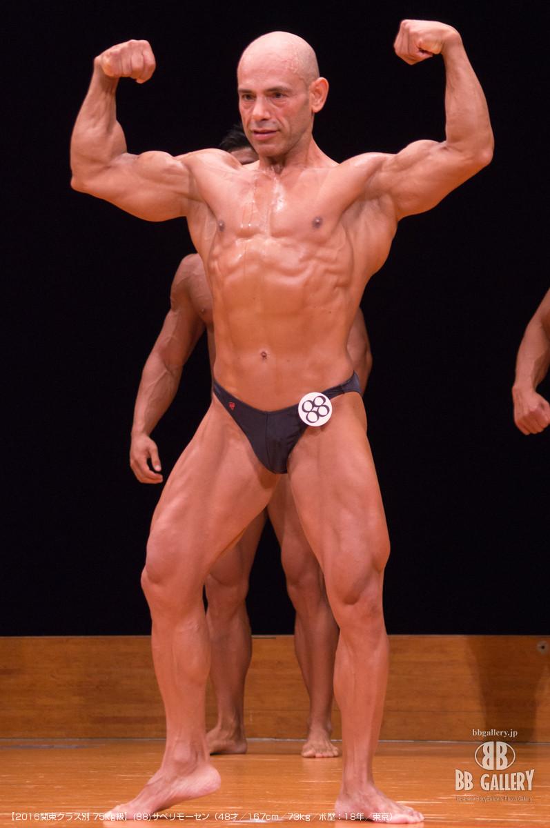 【2016関東クラス別 75kg級】(88)サベリモーセン(48才/167cm/73kg/ボ歴:18年/東京)