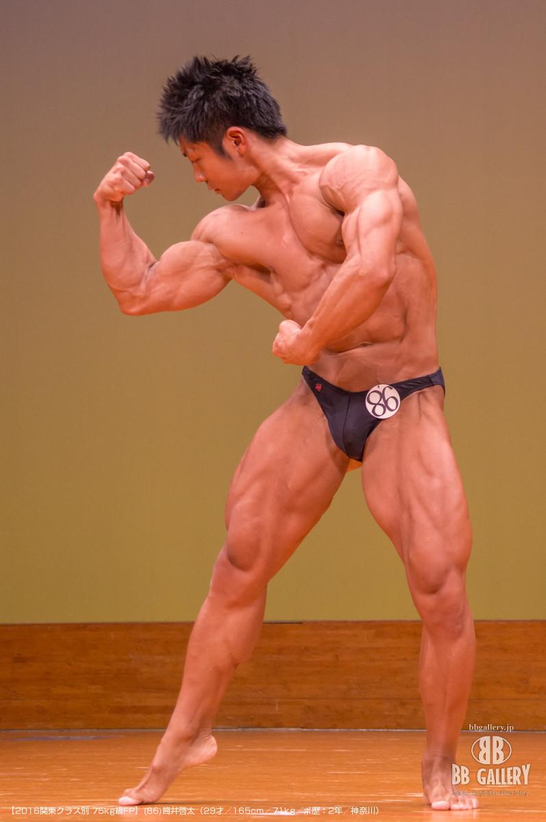 【2016関東クラス別 75kg級FP】(86)筒井啓太(29才/165cm/71kg/ボ歴:2年/神奈川)