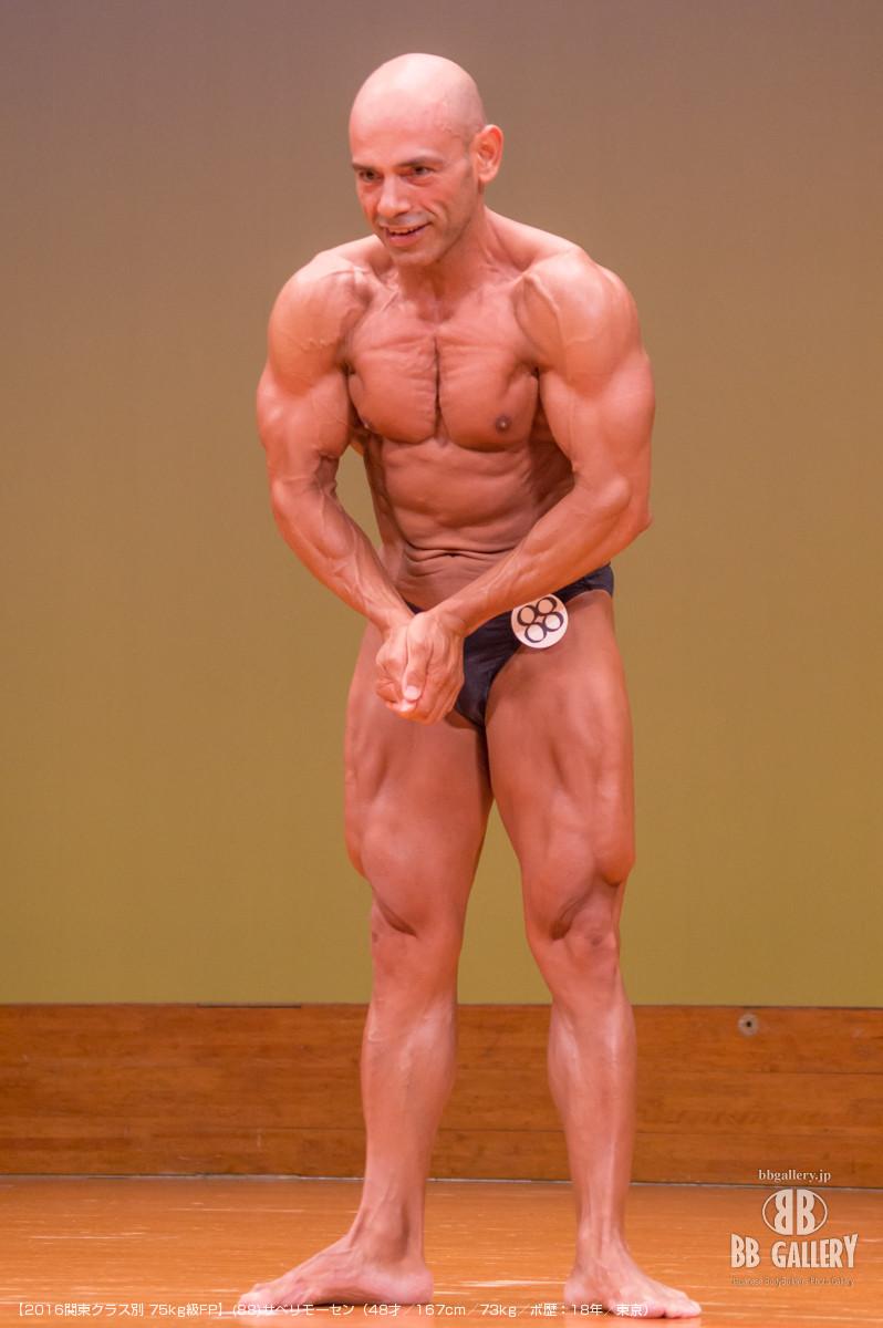 【2016関東クラス別 75kg級FP】(88)サベリモーセン(48才/167cm/73kg/ボ歴:18年/東京)