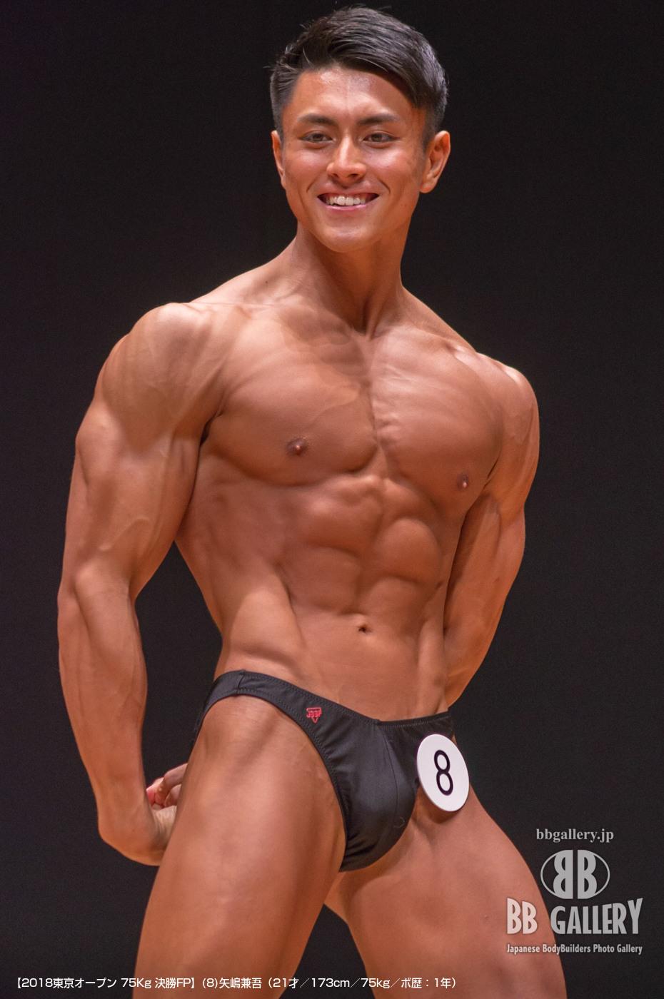 【2018東京オープン 75Kg 決勝FP】(8)矢嶋兼吾(21才/173cm/75kg/ボ歴:1年)