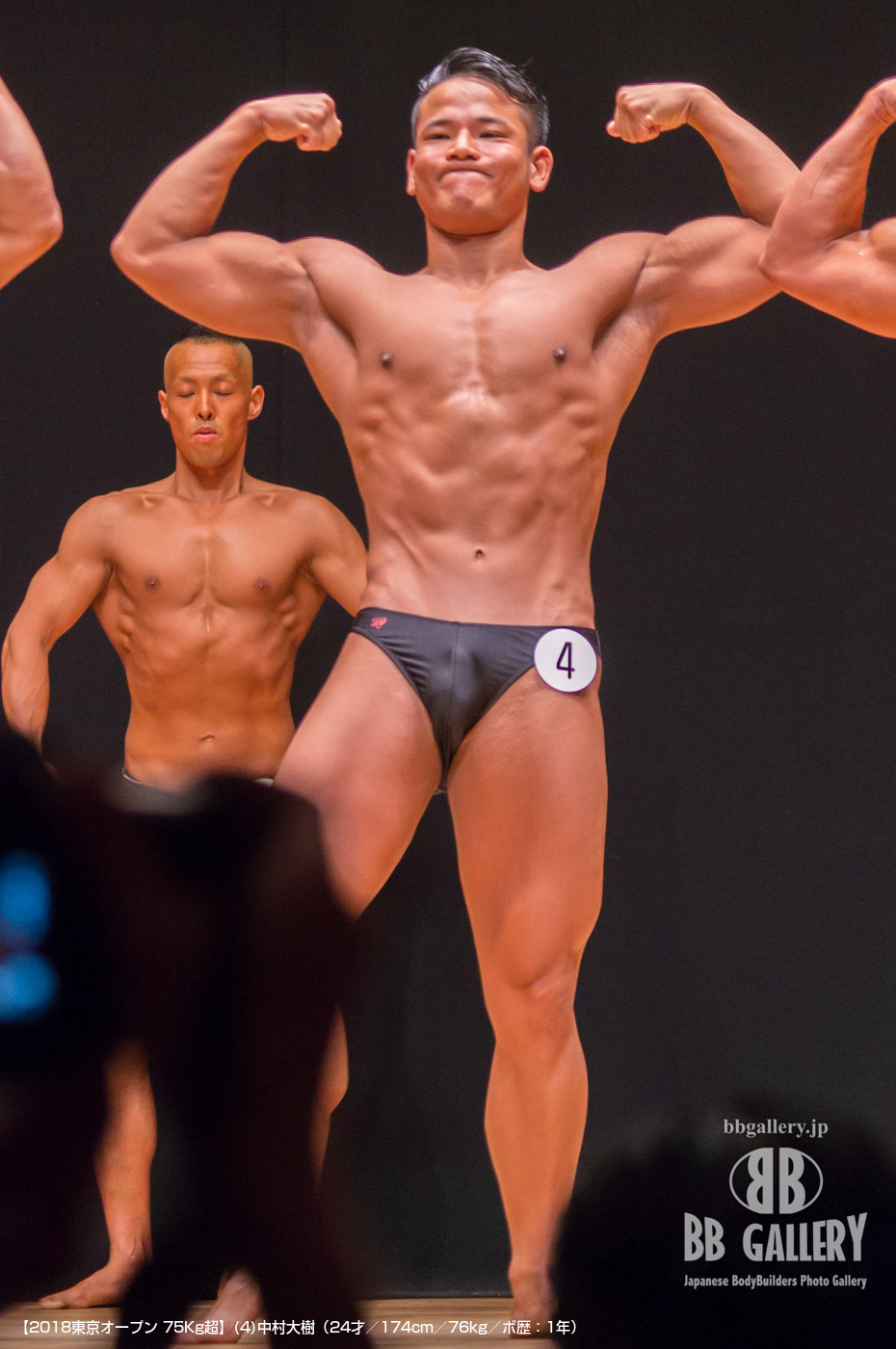 【2018東京オープン 75Kg超】(4)中村大樹(24才/174cm/76kg/ボ歴:1年)