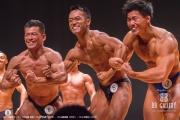 【2018東京オープン 75Kg超 表彰】(6)三門治彦(42才)、(5)山﨑貴義(25才)、(3)小林寛治(27才)