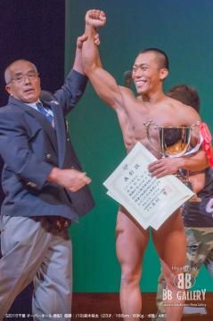 【2015千葉 オーバーオール 表彰】優勝:(19)鈴木裕太(23才/168cm/69Kg/ボ歴:4年)
