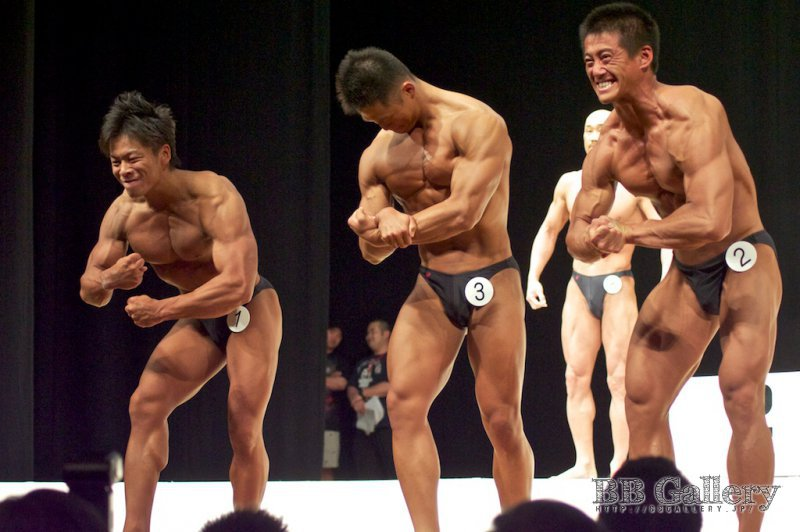 (1)田中裕介(28才)、(3)山澤圭介(21才)、(2)木村潤平(25才)