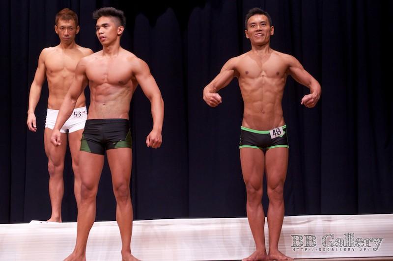 【2013北区:男子ボディフィットネス】(49)窪松マークジョン(18才)、(48)小林康行(36才)