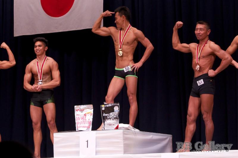 【2013北区:男子ボディフィットネス】(49)窪松マークジョン(18才)、(48)小林康行(36才)、(51)金子肇(51才)
