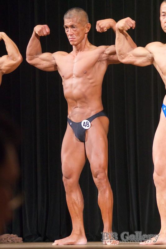 【2013埼玉:75kg】(48)福田雄一郎(53才/173cm/ボ歴:18年)