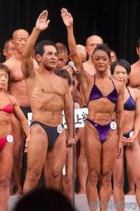 選手宣誓:(62)知名定勝選手(男子70才級)、(2)清水恵理子選手(女子40才級)